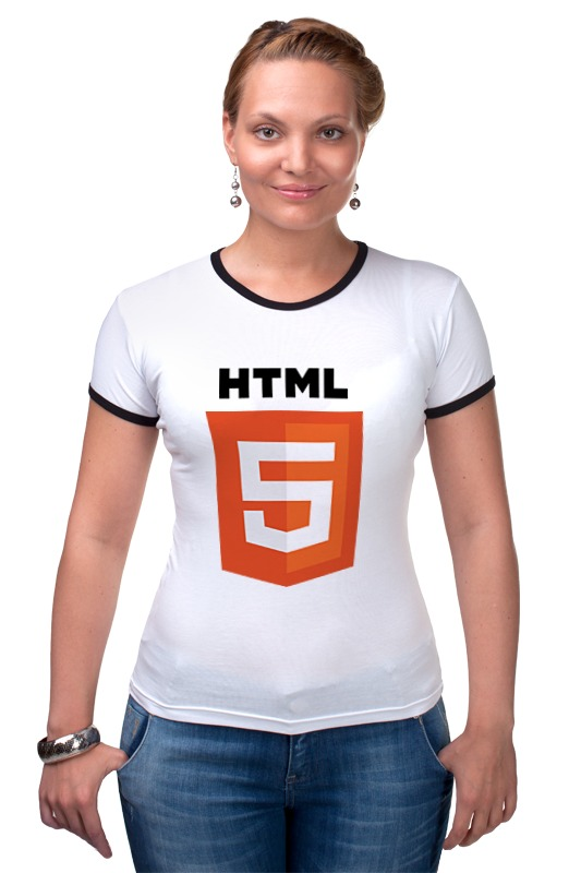Футболка Рингер Printio Html 5 ru index html