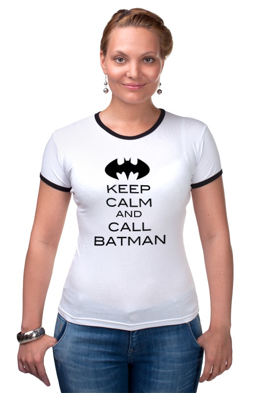 Футболка Рингер Printio Keep calm and call batman футболка wearcraft premium printio keep calm