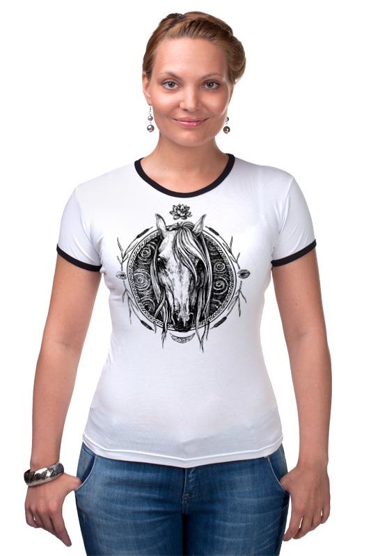 Футболка Рингер Printio Речная лошадь футболка стрэйч printio речная лошадь