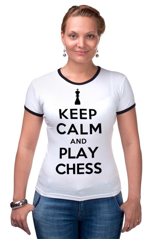 Футболка Рингер Printio Играй в шахматы дорожные шахматы