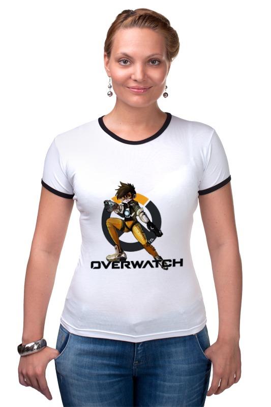 Футболка Рингер Printio Overwatch tracer