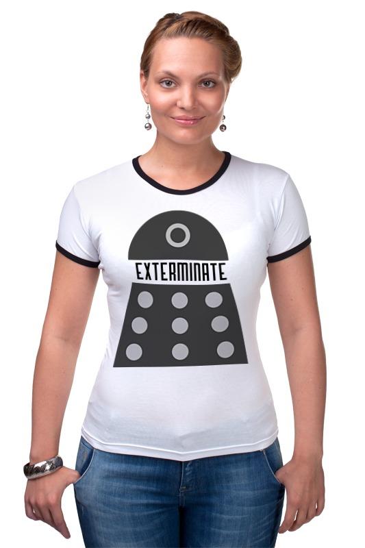 Футболка Рингер Printio Далеки (доктор кто) футболка рингер printio доктор кто doctor who