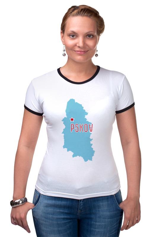 Футболка Рингер Printio Псковская область