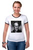 """Футболка """"Рингер"""" (Женская) """"Клинт Иствуд / Clint Eastwood"""" - кино, кумир, clint eastwood, клинт иствуд"""
