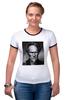 "Футболка Рингер ""Клинт Иствуд / Clint Eastwood"" - кино, кумир, clint eastwood, клинт иствуд"