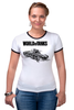 "Футболка ""Рингер"" (Женская) ""World of Tanks"" - игра, game, world of tanks, танки, wot"