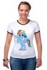"Футболка Рингер ""Rainbow Dash"" - pony, mlp, rainbow"