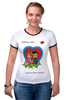 "Футболка Рингер ""love is..."" - любовь, love is"