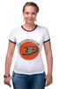 "Футболка ""Рингер"" (Женская) ""Anaheim Ducks"" - спорт, хоккей, nhl, нхл, anaheim ducks"