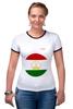 "Футболка Рингер ""Флаг Таджикистана"" - таджикистан, флаг"