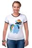 "Футболка ""Рингер"" (Женская) ""20 % cooler"" - pony, rainbow dash, mlp, пони, ponies"