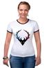 """Футболка Рингер """"just wear"""" - олень, deer"""