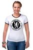 """Футболка Рингер """"Chelsea (Челси) """" - футбол, football, челси, chelsea"""