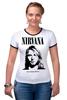 "Футболка Рингер ""Nirvana"" - гранж, nirvana, kurt cobain, курт кобейн, нирвана"