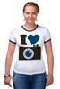 "Футболка Рингер ""Я люблю Фото (Селфи)"" - foto, фотоаппарат, селфи, selfie, фотки"
