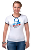 """Футболка """"Рингер"""" (Женская) """"Путин В. В."""" - путин, putin"""