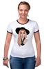 "Футболка ""Рингер"" (Женская) ""Lady Gaga                    "" - музыка, арт, авторские майки, style, стиль, рисунок, поп, swag, lady gaga, леди гага"