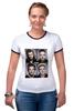 "Футболка Рингер ""One Direction"" - one direction, 1d, оне дирекшен, 1 direction"