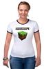 """Футболка Рингер """"Minecraft - Куб"""" - minecraft, майнкрафт"""