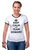"Футболка ""Рингер"" (Женская) ""Edward Snowden"" - америка, россия, keep calm, edward snowden, эдвард сноуден"