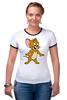 """Футболка Рингер """"футболка """"Том и Джерри"""""""" - в подарок, девушке, футболка женская"""