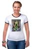 """Футболка Рингер """"Дама и перец by KKARAVAEV.ru"""" - картина, искусство, перец, pepper, picture"""
