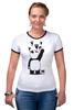 """Футболка Рингер """"Панда вандал"""" - животные, панда, panda, wwf, вандал"""