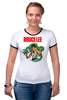 "Футболка ""Рингер"" (Женская) ""Bruce Lee"" - karate, bruce lee, fighter, карате, брюс ли"