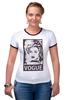 """Футболка """"Рингер"""" (Женская) """"Мадонна (Vogue)"""" - madonna, мадонна, вог, vogue"""