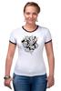 """Футболка Рингер """"Абстрактные цветы"""" - авторские майки, цветы, узор, винтаж"""