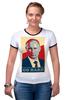 "Футболка Рингер ""Go Hard Like Vladimir Putin"" - путин, президент, putin, go hard"