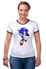 """Футболка Рингер """"Sonic"""" - соник, sonic, sega"""