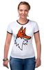 """Футболка """"Рингер"""" (Женская) """"Лис"""" - авторские майки, fox"""