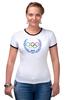 """Футболка """"Рингер"""" (Женская) """"Sochi 2014"""" - olympic games, sochi 2014, сочи 2014, олимпийские игры"""