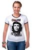 """Футболка Рингер """"Cuba libre, Hasta La. Victoria Siempre!"""" - че гевара, che, cuba, куба, cuba libre"""