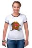 "Футболка Рингер ""The Angry Beavers"" - бобер, бобры, крутые бобры, the angry beavers"
