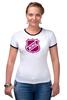 "Футболка ""Рингер"" (Женская) ""National Hockey League"" - хоккей, nhl, нхл"