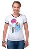 """Футболка """"Рингер"""" (Женская) """"my little pony girl"""" - my little pony, пони, для детей, детское"""