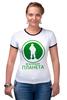 """Футболка """"Рингер"""" (Женская) """"Вежливая планета"""" - армия, россия, логотип, вежливые люди, ратник"""