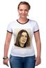"Футболка Рингер ""Ozzy Osbourne "" - портрет, ozzy, оззи осборн, ozzy osbourne, оззи"