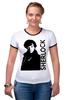 """Футболка """"Рингер"""" (Женская) """"Шерлок (Sherlock)"""" - bbc, sherlock, шерлок"""