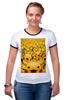"Футболка Рингер ""Pokemon Go by K.KARAVAEV"" - pokemon, покемон, пикачу, kkaravaev, pokemongo"