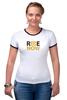 "Футболка Рингер ""ride-now"" - активность, ride-now, велосипед, спорт"