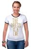 """Футболка """"Рингер"""" (Женская) """"Какого цвета Платье?"""" - dress, цвет платья, the dress is a lie"""