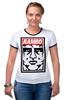 """Футболка """"Рингер"""" (Женская) """"Рэмбо (Rambo)"""" - сталлоне, рэмбо, rambo"""