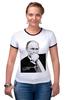 """Футболка Рингер """"Владимир Путин by Hearts of Russia"""" - путин, президент, putin, сердцароссии, karavev"""