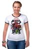 "Футболка ""Рингер"" (Женская) ""Marvel Heroes"" - comics, marvel, superheroes"