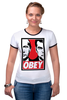 """Футболка Рингер """"OBEY"""" - путин, медведев, obey, putin, medvedev"""