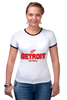 "Футболка Рингер ""Detroit Red Wings"" - хоккей, nhl, нхл, detroit red wings, детроит ред вингз"