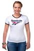 "Футболка Рингер ""Reebok"" - спорт, спортсмен, sports, reebok, рибок"